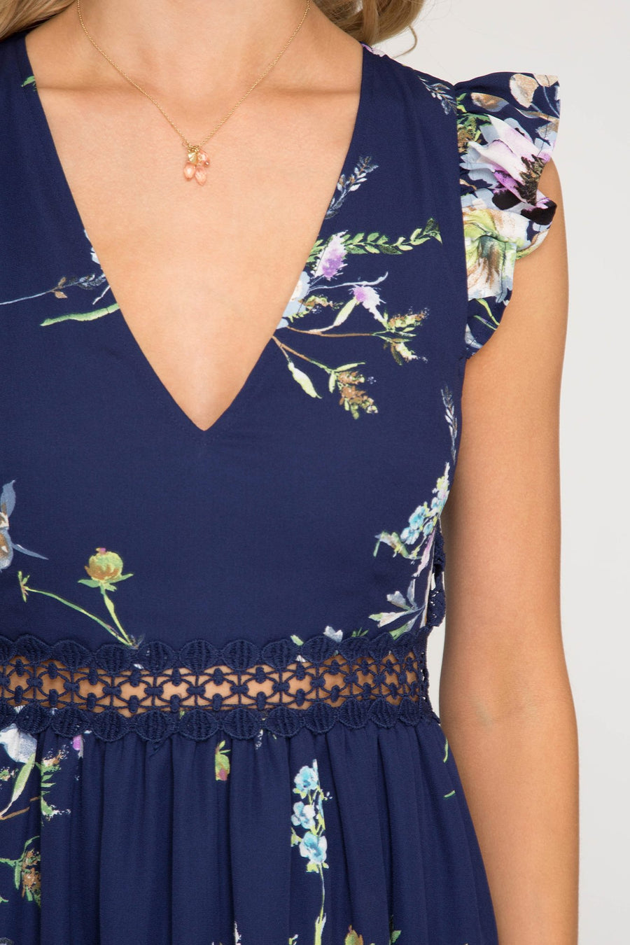 Ashley:  Diamond Back Floral Dress by She + Sky