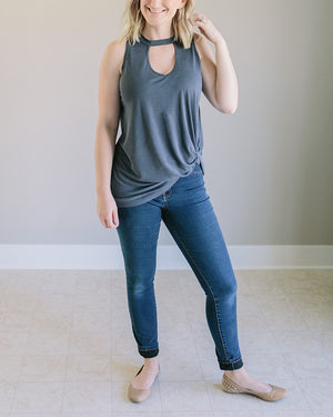 Morgan: Soft Modal Side Knot Top by She + Sky