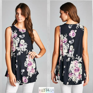 Carly:  Floral Sleeveless Top by Bellamie