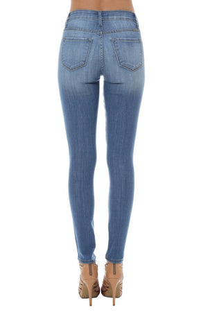 Terri:  Lightwash Distressed Denim Jeans by KanCan USA