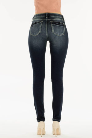 Reese:  Dark Wash Distressed Denim Jeans by KanCan USA