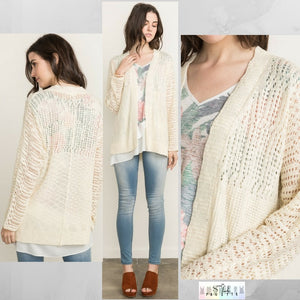 Susan:  Cream Spring Cardigan by Mystree (Premier Brand)