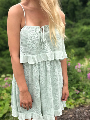 Dawn:  Sage Lace Summer Dress