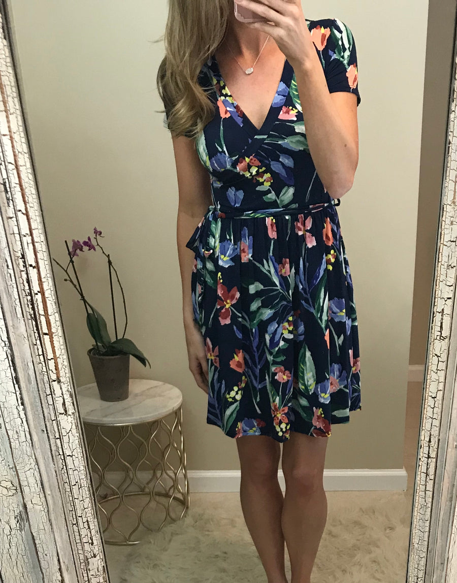 Molly: Floral Wrap Dress by 12pm by Mon Ami