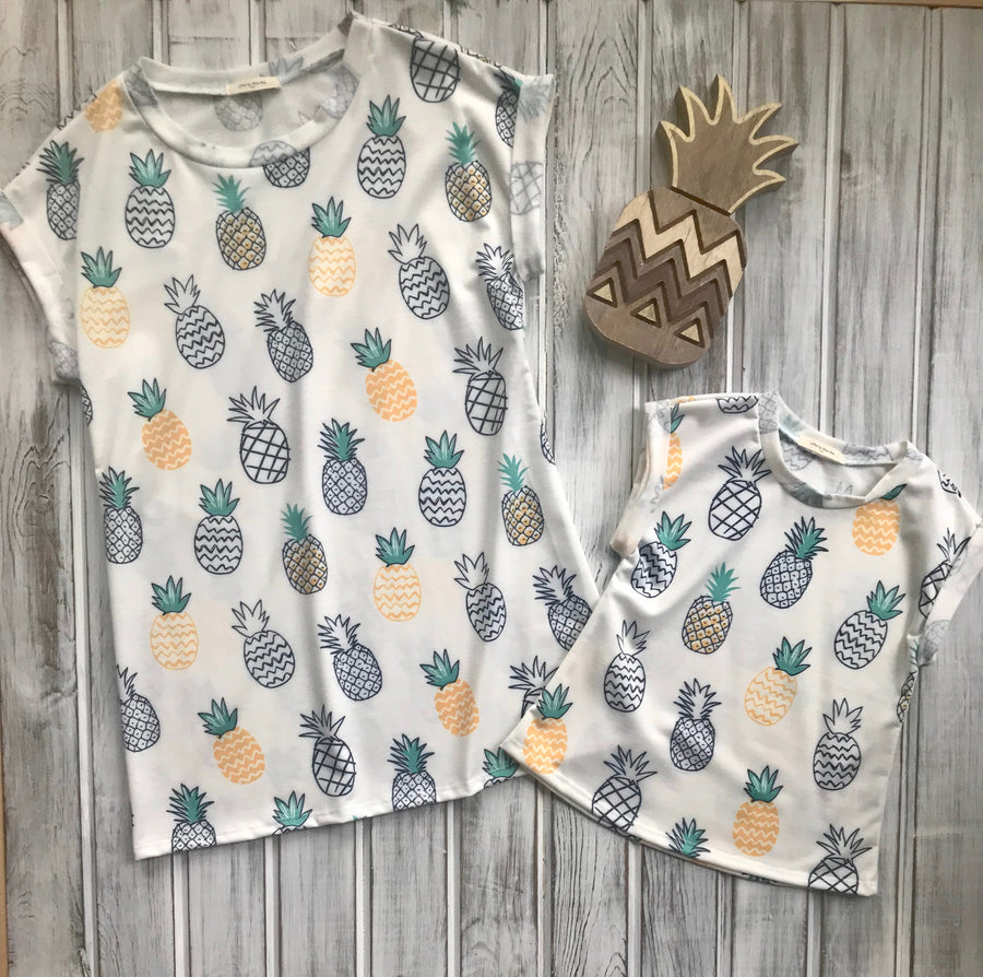 Trista Jr:  KIDS Pineapple Short Sleeve Top by 12pm by Mon Ami