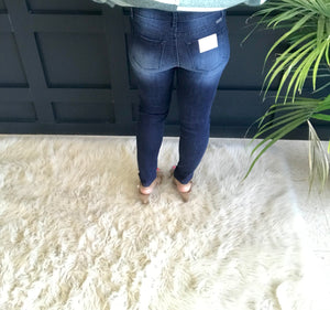Holly:  Dark Wash Denim Jeans by KanCan