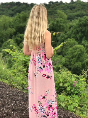 Jenny:  Floral Racerback Maxi by Bellamie