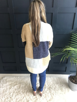Emily: Color Block Heavy-Weight Sweater Jacket by White Birch