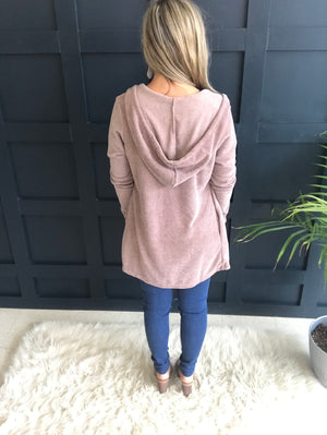 Marica: SUPER Soft Open Jacket Hoodie Cardigan by White Birch