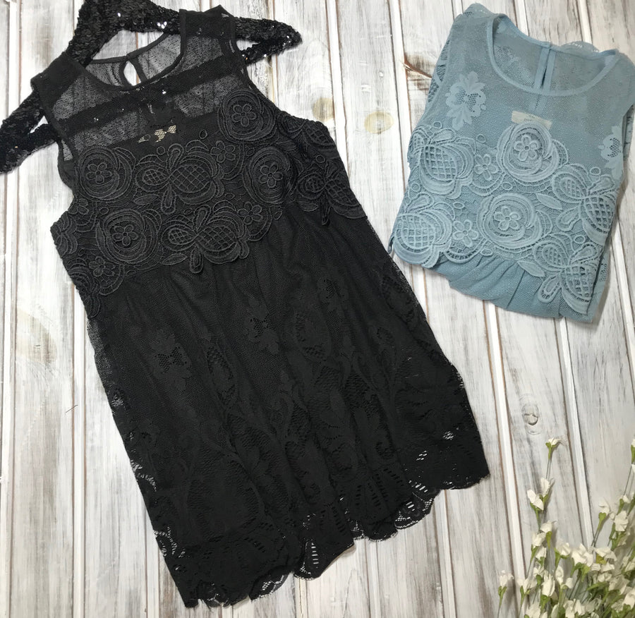 Alli:  Lace Detailed Sleeveless Top by Entro