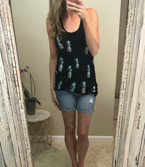 Sammy: Pineapple Racerback Tank by Vanilla Bay