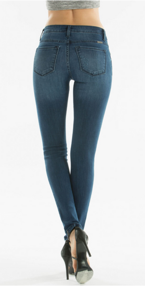 Mya:  Medium Wash Denim Jeans by KanCan USA