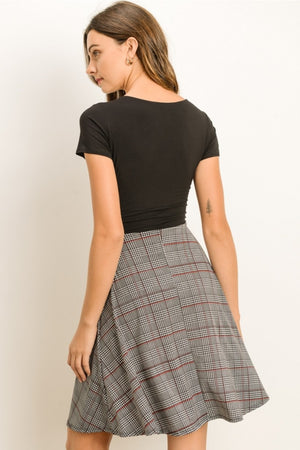 Taryn:  Black and Plaid Dress by Gilli