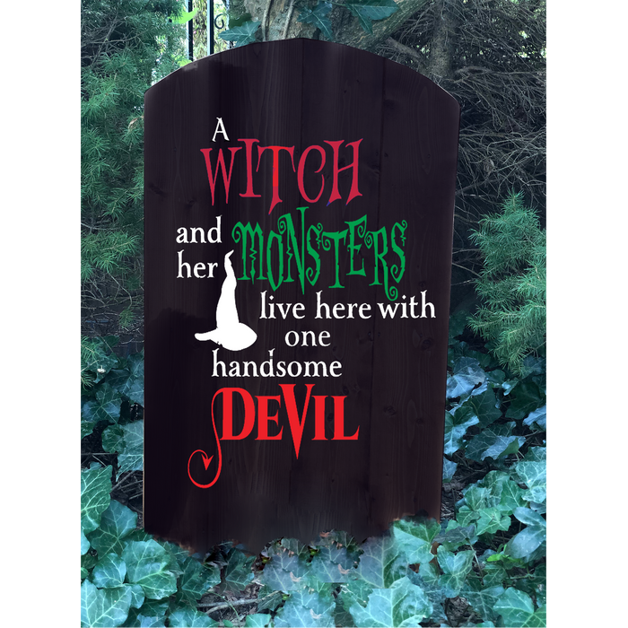 Halloween Tombstone Decoration - Halloween Yard Decor - Design Your Own - Witch - Lola's Design Loft
