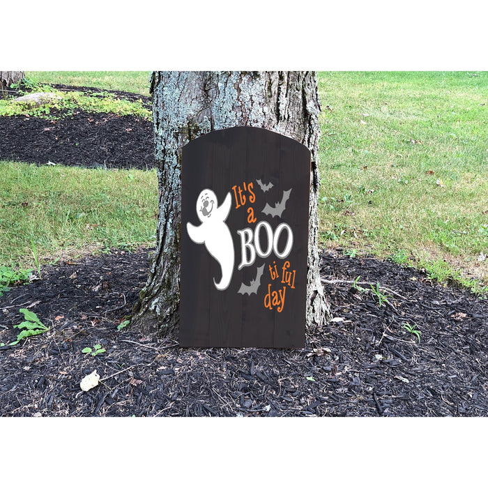 Halloween Tombstone Decoration - Halloween Yard Decor - Design Your Own - Boo - Lola's Design Loft