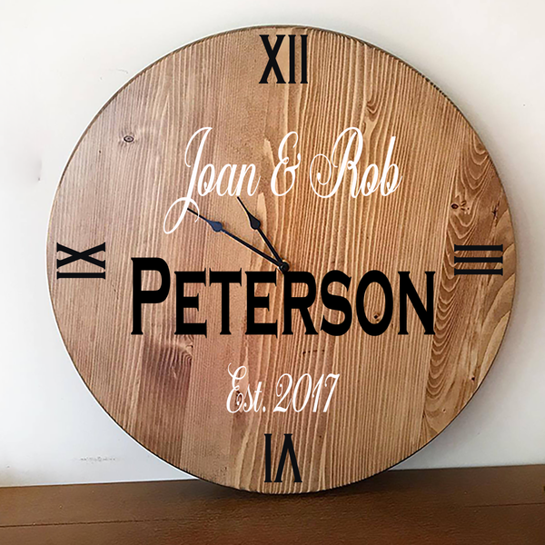 Oversized Wall Clock - Wedding Gift Idea
