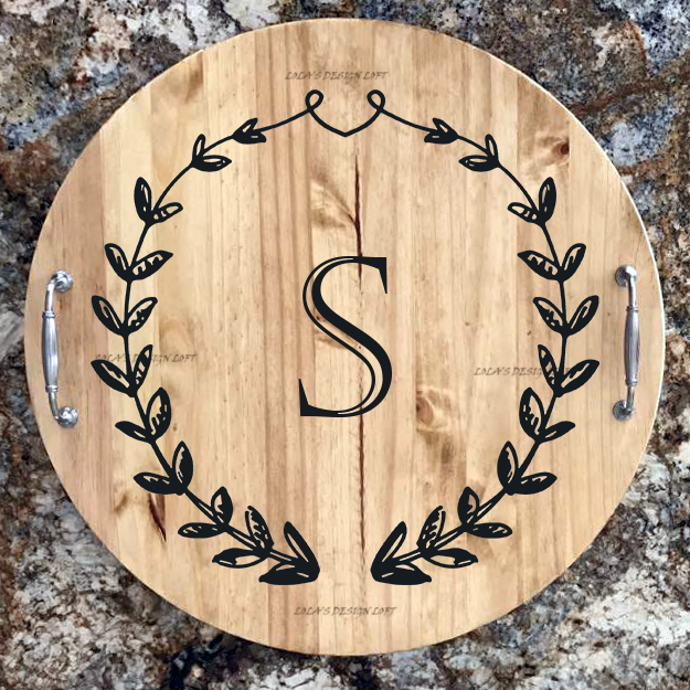 Lazy Susan - Monogrammed Personalized Serving Tray