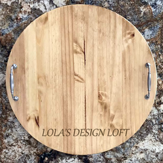Lazy Susan - Monogrammed Personalized Serving Tray - Lola's Design Loft