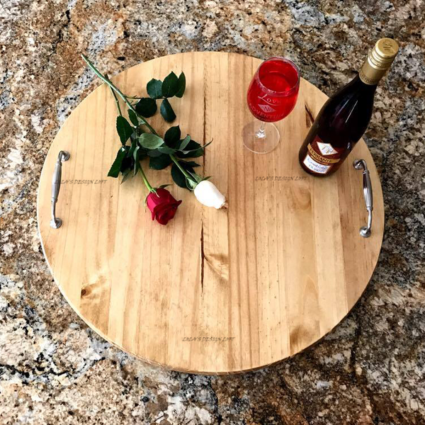 "Lazy Susan - Personalized Serving Tray - ""Everything I Am"""