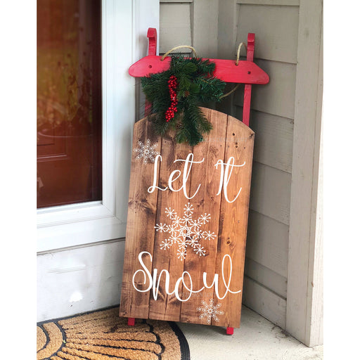 Let it Snow Sled - Lola's Design Loft