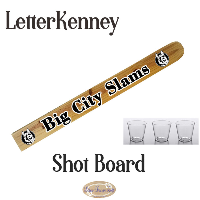 Letterkenney Fan Shot Board - Design Your Own - Lola's Design Loft