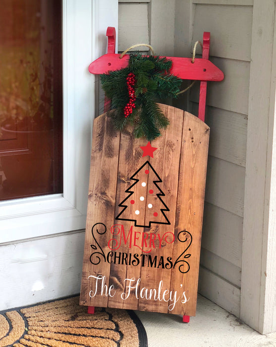 Outdoor Holiday Sled Decor