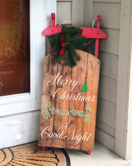 Wooden Sled, Christmas  Sled Decor, Wooden Sleigh