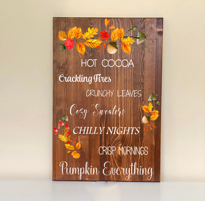 Pumpkin Everything Fall Decor Sign