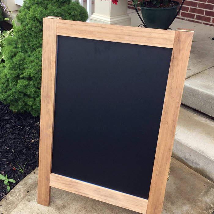 Sidewalk Sign - One Sided A-Frame Chalkboard - Lola's Design Loft