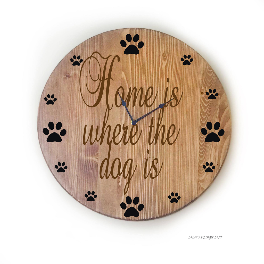 Oversized Wall Clock for Pet Lover's