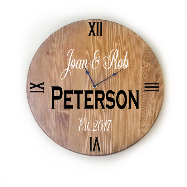 Oversized Wall Clock - Personalized Family Name