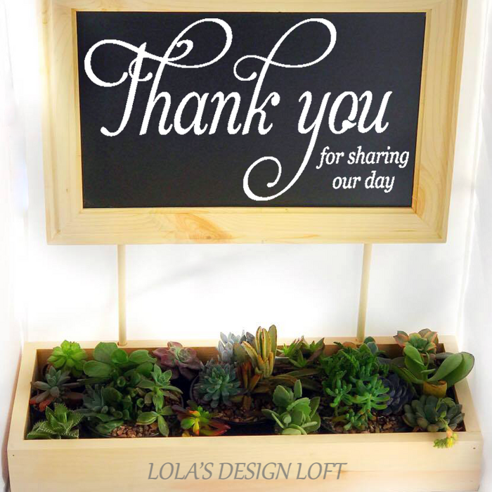 Succulent Planter - Wedding Succulent Planter - Lola's Design Loft