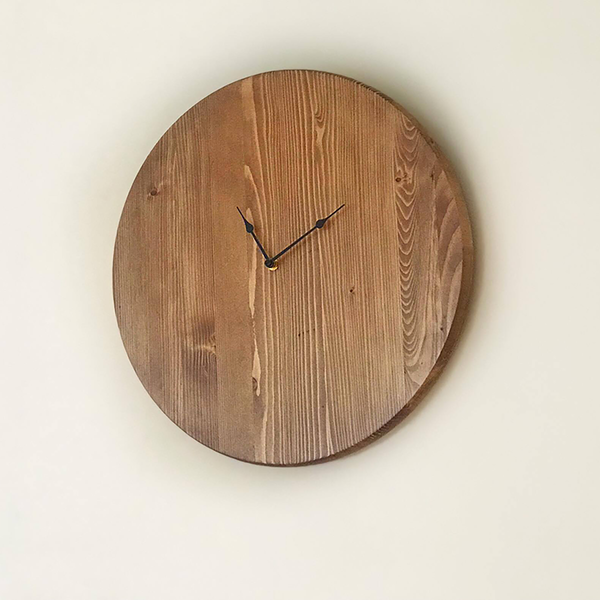 Oversized Wooden Wall Clock