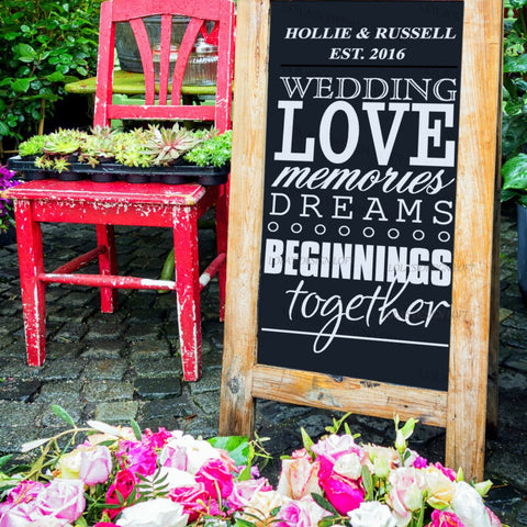 Rustic Wedding Welcome Sign