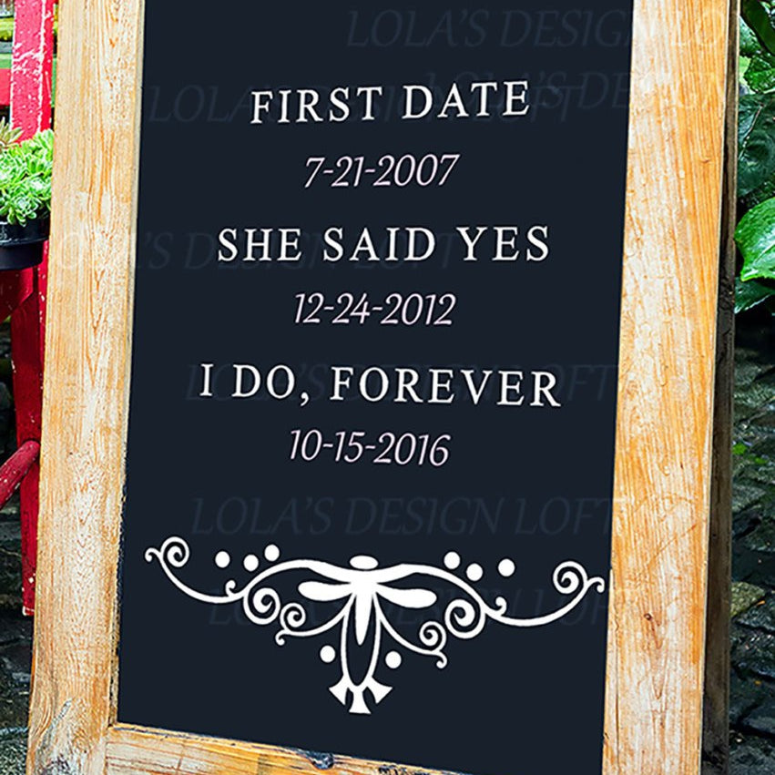Rustic Wedding Sign - First Date