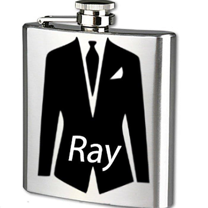 Flask - Groomsmen Gift - Groomsman Gift - Personalized Flask - Wedding Party Ideas - Grooms Gift - Wedding Reception Ideas - Birthday Gift - Lola's Design Loft