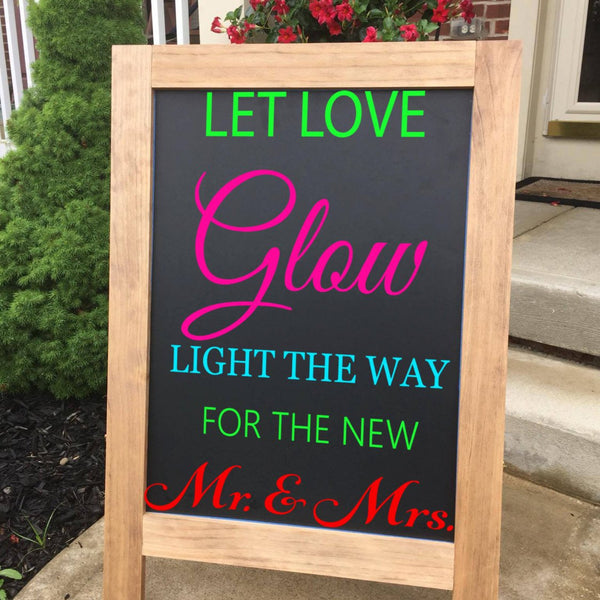 Let Your Love Glow - Wedding Sign - Large