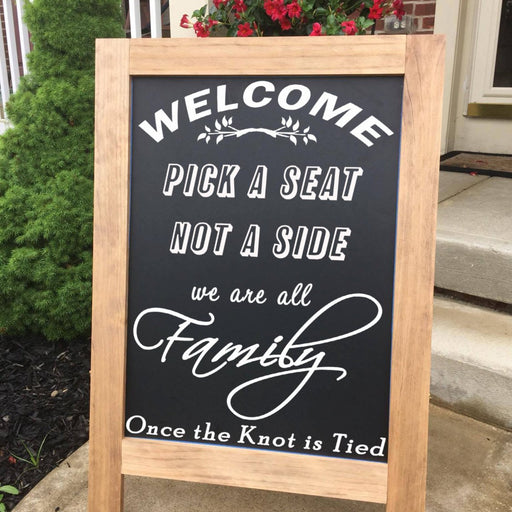 Pick A Seat Wedding Sign - Lola's Design Loft