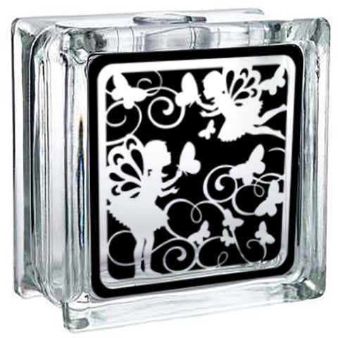 Fairy - Lighted Glass Block Decor - Beautiful Fairies