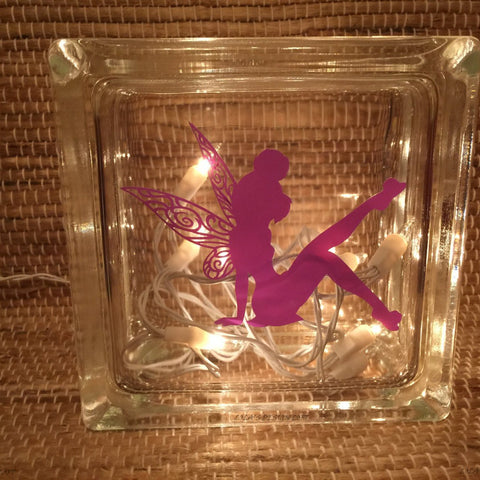 Customized Fairy Glass Block Decor