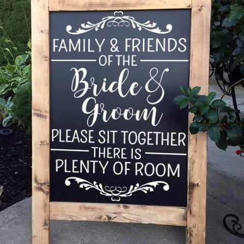 Wedding Seating Sign - Please Sit Together