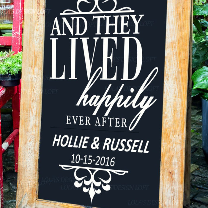 Happily Ever After Wedding Sign - Lola's Design Loft