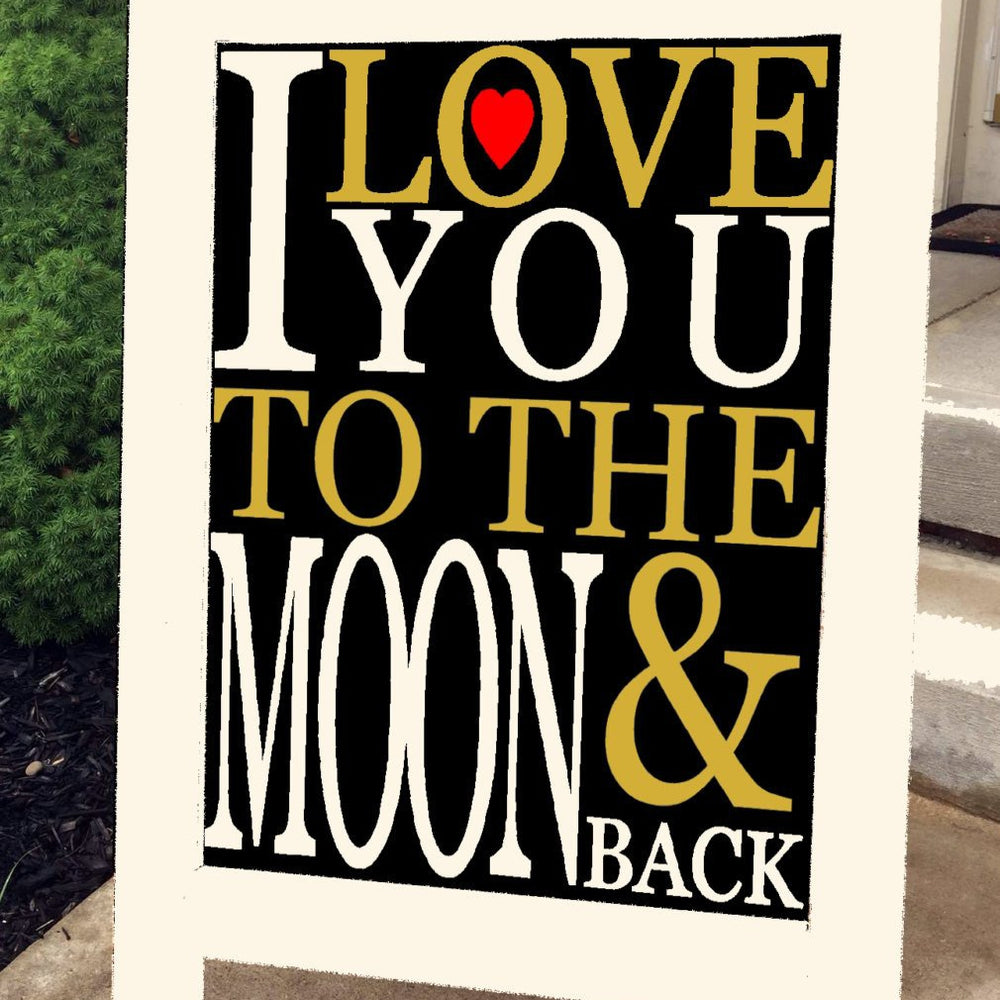 Wedding Sign - I Love You to the Moon - Lola's Design Loft