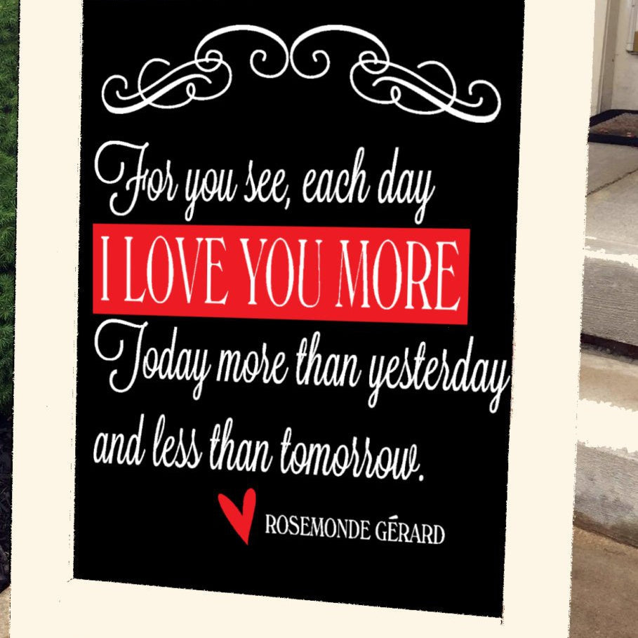 Chalkboard Sign - Standing - Wedding - My Whole Heart
