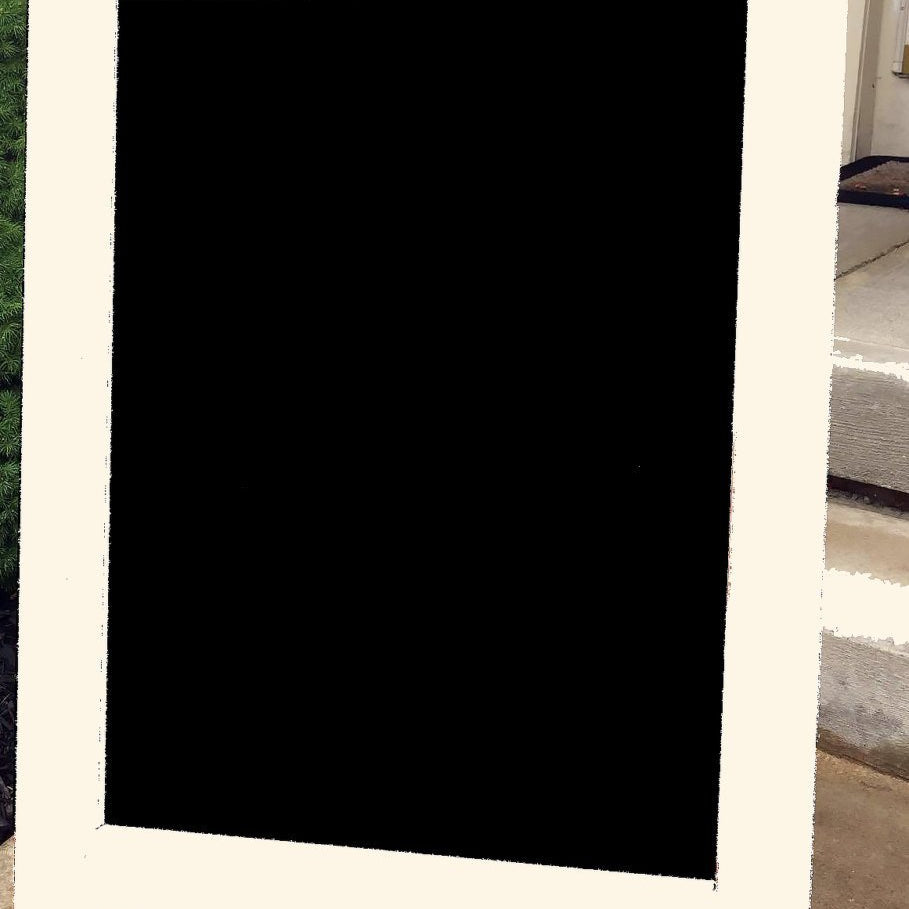 Double Sided Sidewalk Sign - White Frame