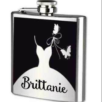 Flask - Bridesmaid - Personalized - Lola's Design Loft