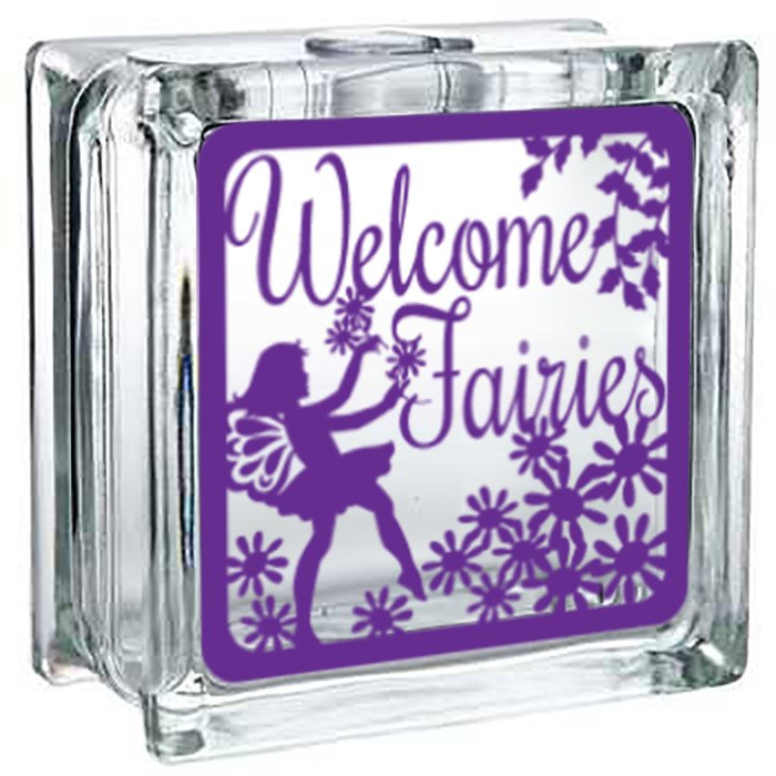 Fairy - Lighted Glass Block Decor - Lola's Design Loft