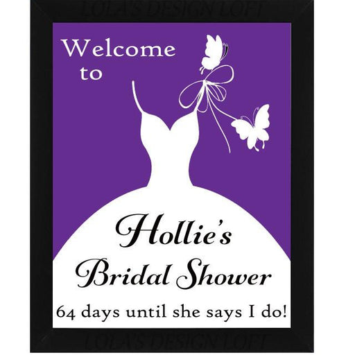 Chalkboard Sign, Bridal Shower Sign - Customized - Lola's Design Loft