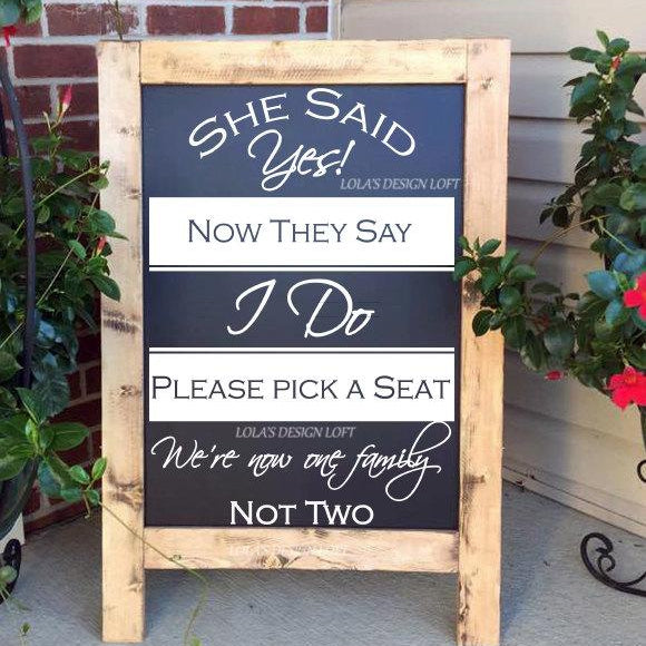 Pick A Seat Sign - Wedding Seating Sign - Lola's Design Loft