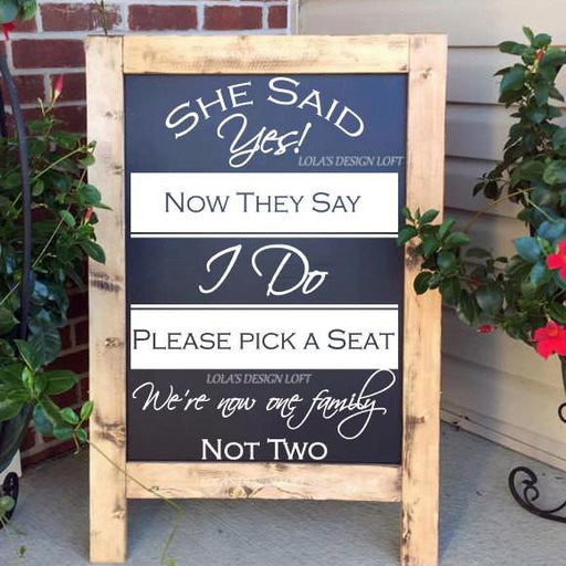 Wedding Seating Sign - Lola's Design Loft